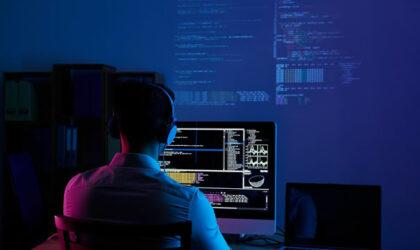 A software developer engaging in a job he has undertaken
