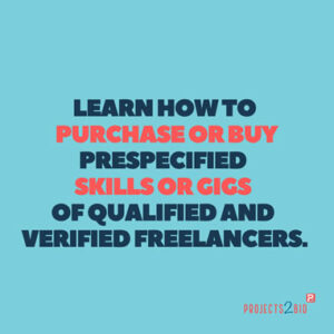Learn how to Purchase or Buy pre-specified Skills or Gigs of qualified and verified Freelancers